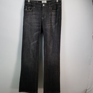 WHITE HOUSE BLACK MARKET BLACK DENIM BOOT CUT SZ 6